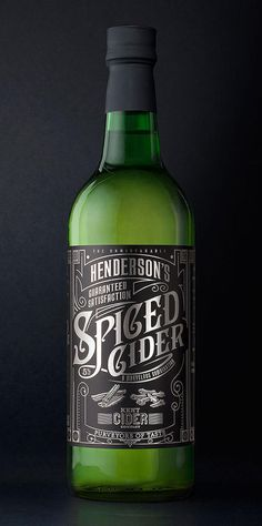 Calligraphy Cider Packaging : cider packaging