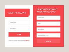 Login & Register Form UI PSD