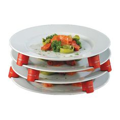 Stack multiple plates when microwaving and storing food. #design #product #modern #lifestyle