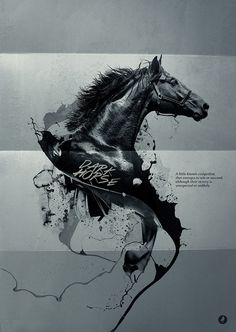 Dark Horse by Marcell Bandicksson #ink #horse #photo #design #black #manipulation #art #collage #dark #beauty
