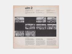 ulm 2 Quarterly bulletin of the Hochschule für Gestaltung, Ulm, October 1958 via www.thisisdisplay.org