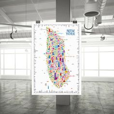 The ICONYC New York Poster #icons #poster #york #usa #iconyc #buildings #new