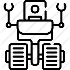 See more icon inspiration related to futuristic, Future, cyborg, robotic, robots, robot, electronic, machine and technology on Flaticon.