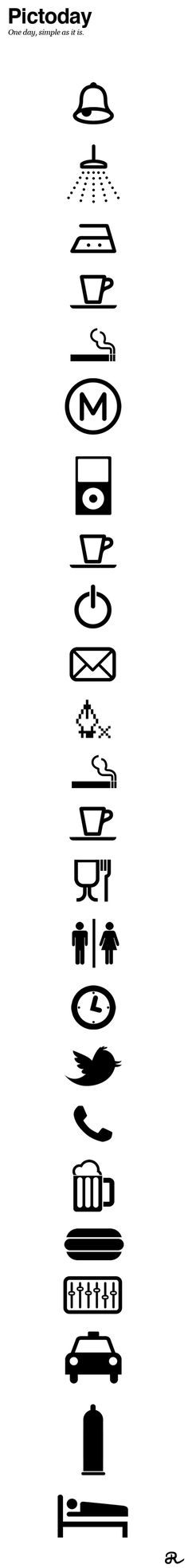 Pictoday on Behance #icons #pictograms #day