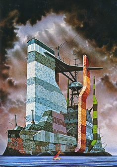 """retroscifiart: """"Painting by Colin Hay from the book Dangerous Frontiers (1980) """""""