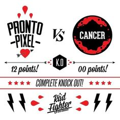 Rad fighter wins #design #prontopixel #fuckcancer #illustration #art #logo #radfighter