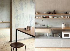 Concrete and wood - emmas designblogg #interior design #decoration #concrete #deco