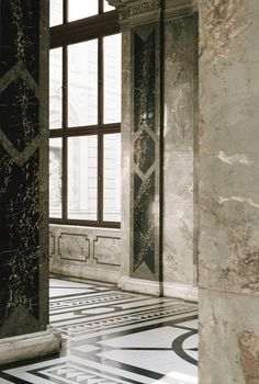 Número Tres - Vienna http://modus--vivendi.com/ #35mm #museum #corner #lifestyle #interiors #travel #vienna #floor #corridor #photography #architecture #marble #window #light
