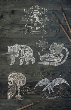 Lucky Brand on Behance by BMD DESIGN #marks #illustration #letterpress #typography