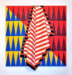 FFFFOUND! #abstract #calvin #colours #art #triangles #ross