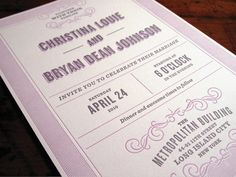 Bryan #wedding #stationary #invitation