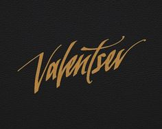 Valentsev #logotype #handwriting #handwritten #logo #typography