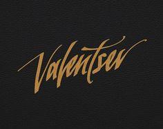 Valentsev #logotype #handwriting #handwritten #logo #typography