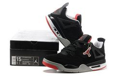 Retro Nike Air Jordan IV Black and Red with Size 14 and 15 Sale