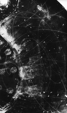 Particle Tracks On Film from the Fermilab Bubble Chamber #nasa #particles #tracks #space