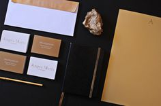 Gold on Behance #pantone #stationary #branding #gold