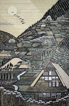 WILD THING: Ray Morimura #morimura #print #ray #paint #tokyo #woodblock