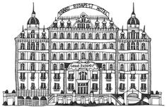 Grand Budapest Hotel #illustration #drawing #architecture #wesanderson