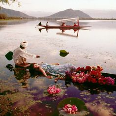 Norman Parkinson - Floating with flowers - Photos - Photohab - Photographer's Portfolios #fashion #photography #inspiration