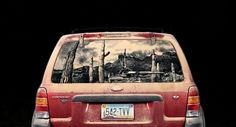 Dirty Car Artwork by Scott Wade | 123 Inspiration #window #surface #talents #unusual