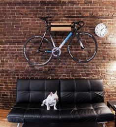 Collection of rooms for your inspiration20 @ ShockBlast #bike #home #brick wall