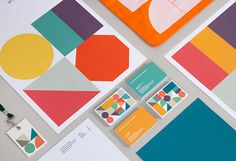 Community Shares Company branding/collateral #color #geometric #shape #collateral #stationery