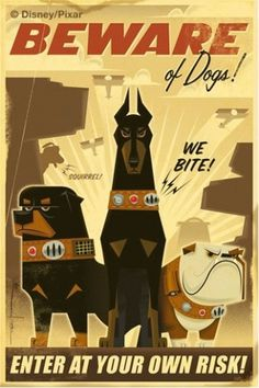 dogs.jpg (image) #illustration #travel #vintage #pixar