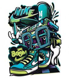 Nike Boom Box Tshirt