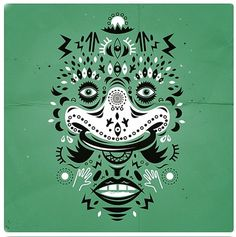 http://mycuzen.tumblr.com/ #design #illustration #bradcuzen #tribal face