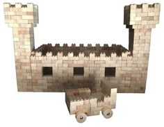 Wooden Castle with wood bricks