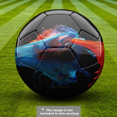 Football ball mock up design Free Psd. See more inspiration related to Mockup, Design, Template, Sport, Football, Web, Website, Sports, Mock up, Ball, Templates, Website template, Mockups, Up, Web template, Realistic, Real, Web templates, Mock ups, Mock and Ups on Freepik.