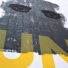 UN #sun #eyes #print #texture #serigraphie #screen #printing #srigraphie