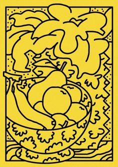 stencil prints #popart #illustration #yellow #drawing
