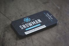 Snowman Mechanical Business Card Design Inspiration | Card Nerd #printed #business #varnish #card #screen