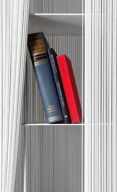shelves,elastic,hidden,white,lines,books,design,furniture,sebastian