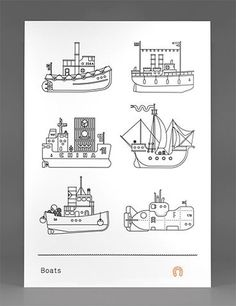 FFFFOUND! | Boats Poster - FPO: For Print Only #illustration