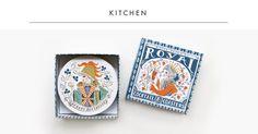 Kitchen #print #royal #illustration #kitchen #coaster