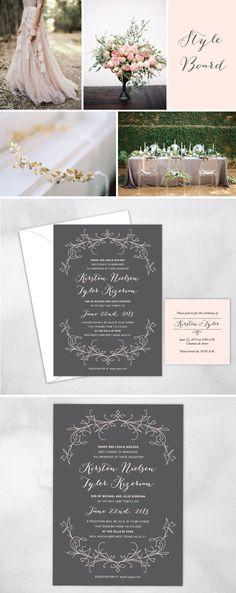 art nouveau invitations