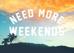 NEED MORE WEEKENDS by Wesley Bird