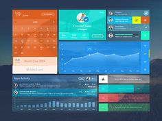Uistic Kit : Free Colorful PSD UI Kit