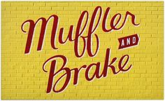 New Express Muffler & Brake Shop hand lettering by Visual Armory (Andy Luce) #painted #drawn #hand #typography