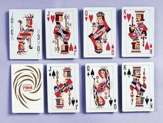 TWA Playing Cards #modern #twa #playing #illustration #mid #century #cards