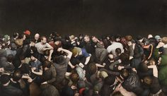 Mosh Pits (Human and Otherwise) - artnau | artnau #crowd #painting #people