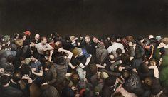 Mosh Pits (Human and Otherwise) - artnau | artnau #crowd #painting #people
