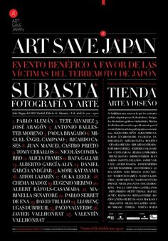 Diseño de logotipo y posters Art Save Japan | javiermaseda