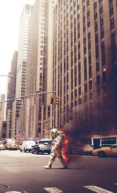 '6th Avenue' A2 PRINT on the Behance Network #astronaut #liberty #anarchy