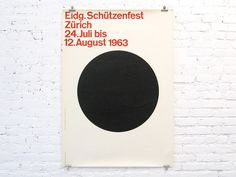 thisisdisplay:Eidg. Schützenfest Zürich or the Swiss Federal Shooting (Marksman) Festival (1963) poster designed by Fridolin Müller ( #poster