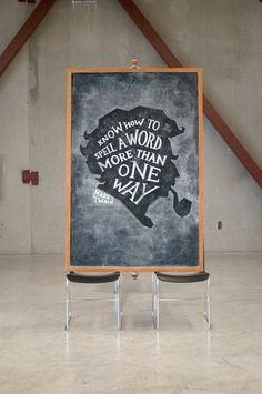 Dangerdust Illustrate Quotes with Wonderful Chalkboard Art #chalk #quotes #illustration #art #typography