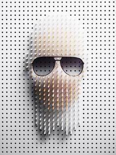 Karl Lagerfeld pin portrait