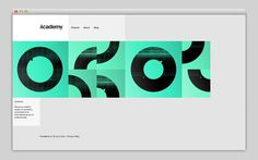 Academy #based #design #website #grid #layout #web